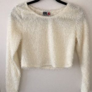 Cozy cream cropped sweater